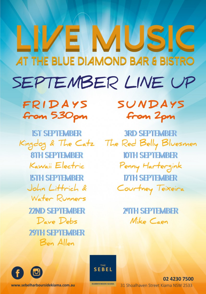 September Blue Diamond Line Up